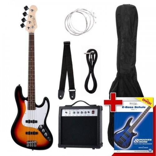 Rocktile Groovers Pack JB E-Bass Set Sunburst