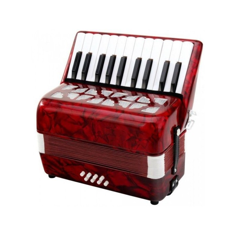 Classic Cantabile Secondo children accordion 8 bass red
