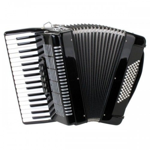 Classic Cantabile 72 Bass Accordion Secondo Black