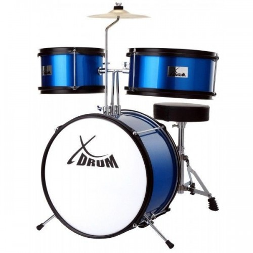 XDrum Junior KIDS drums incl. DVD blue