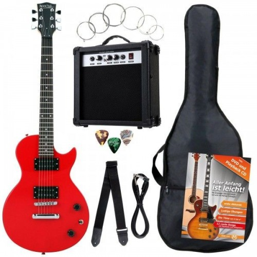 Rocktile Bangers Single Cut E-Gitarren Set Red