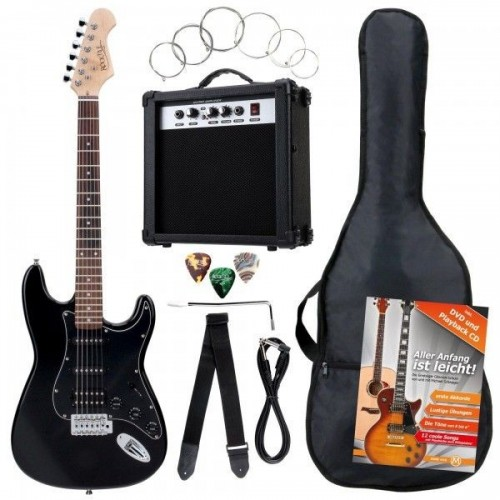 Rocktile Bangers Power Pack E-Gitarren Set Black