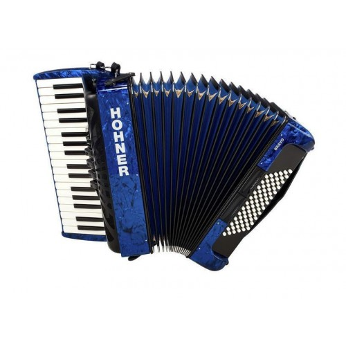 Hohner Bravo III 72 Blue silent key