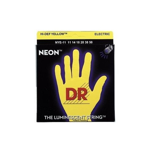 DR Strings HiDef Neon Yellow Heavy NYE11