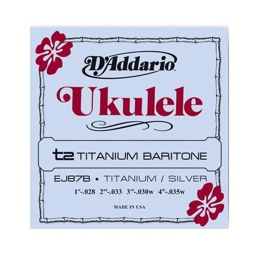 Daddario EJ87B Titanium BaritoneUkulele