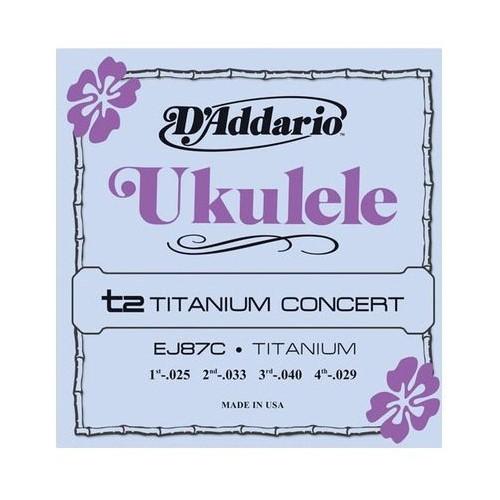 Daddario EJ87C Titanium Concert Ukulele