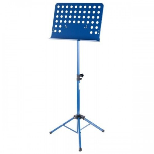 Classic Cantabile Orchestra Music Stand Perforated Metal Plate Heavy Blue