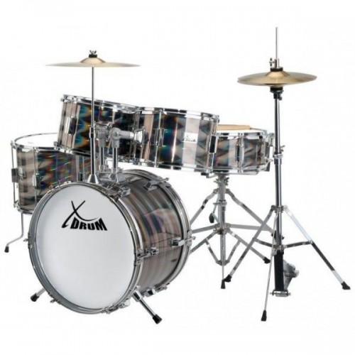 XDrum Junior Pro Kids Drum Set Laser Silver
