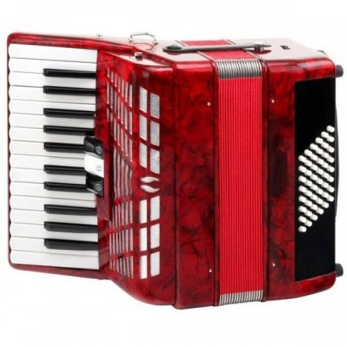 Classic Cantabile 48 bass accordion Secondo III red