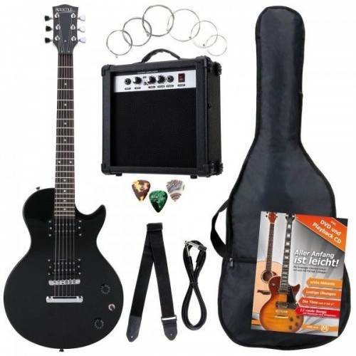 Rocktile Banger's Single Cut E-Gitarren Set Black