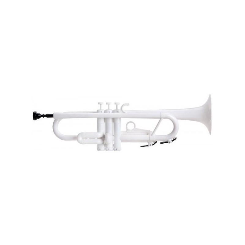 Classic Cantabile TROMBA Bb Jazz plastic trumpet white