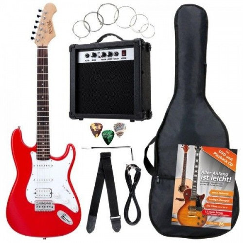 Rocktile Bangers Power Pack E-Gitarren Set Red