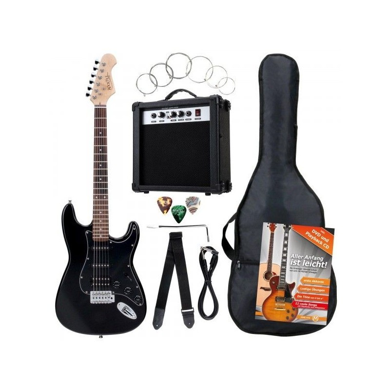 Rocktile Bangers Power Pack E-Gitarren Set Black