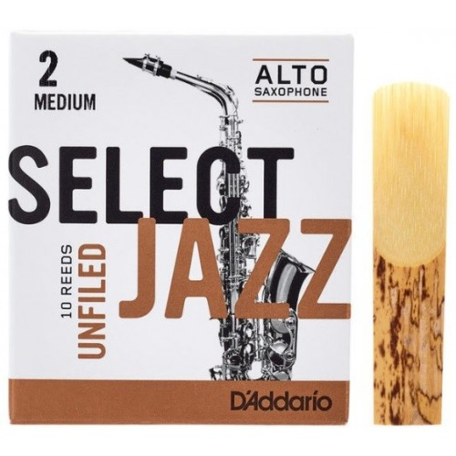 Daddario Select Jazz Unfiled 2M Sax Alto
