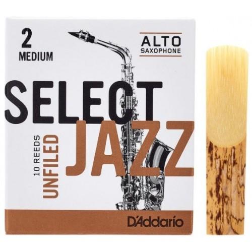 Daddario Select Jazz Unfiled 2M Sax Alto