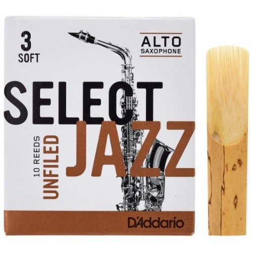 Daddario Select Jazz Unfiled 3S Sax Alto