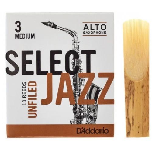 Daddario Select Jazz Unfiled 3H Sax Alto
