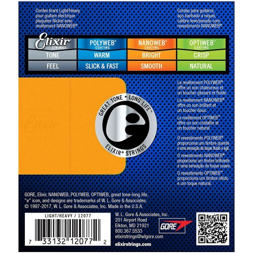 Elixir Nanoweb 12077 Light Heavy