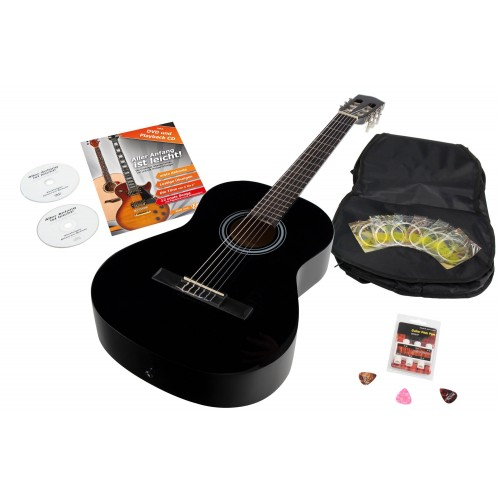 Calida Benita Concert Guitar Set 7/8 black