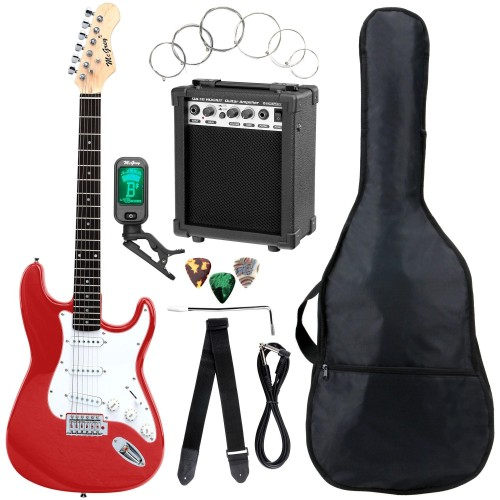 McGrey Rockit Electric Guitar ST Complete Set Fiesta Red