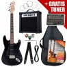 Rocktile ST Pack Electric Guitar Set Black